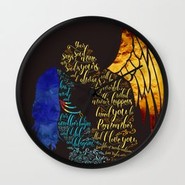 Your soul sings to mine. Daughter of Smoke and Bone Series. Wall Clock
