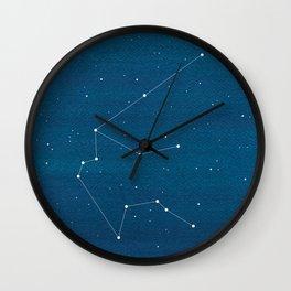 Aquarius, zodiac constellation Wall Clock