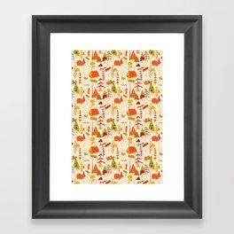 woods pattern Framed Art Print