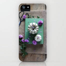 Mums and Pumpkins - Fall Favorites iPhone Case