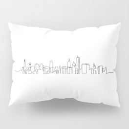 Chicago Skyline Drawing Pillow Sham