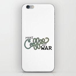 Coffee Not War (Seaside) iPhone Skin