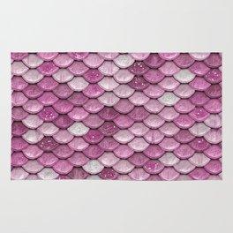 Light Pink Glitter Mermaid Sparkling Scales - Mermaidscales Rug