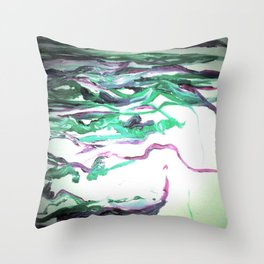 Abstract Waterfall Acrylic Painting Throw Pillow