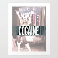 cocaine Art Prints featuring Cocaine by Randall Hansen