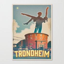 Trondheim - city of students Canvas Print