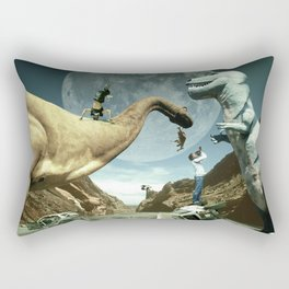 Dinosaur Road Trip Rectangular Pillow