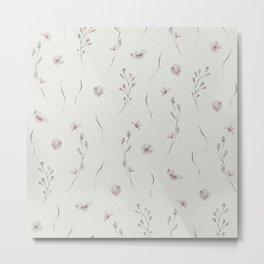Delicate Flower Pattern  II Metal Print