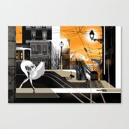 Lisbon at Dawn Canvas Print