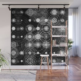 Wet circle stamps Wall Mural