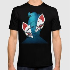 Fox Mask Mens Fitted Tee LARGE Black