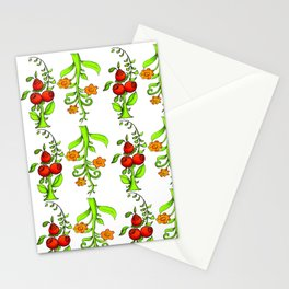 bright trees and fruits Stationery Cards