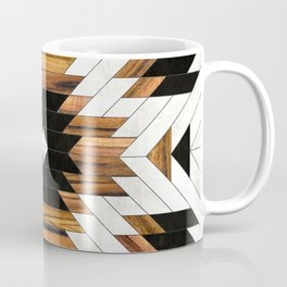 Urban Tribal Pattern 5 - Aztec - Concrete and Wood Coffee Mug