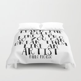 Learn the Rules Duvet Cover