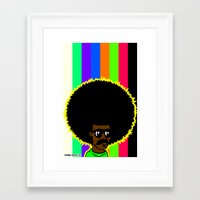 afro Framed Art Prints featuring AFRO by watsonpablov