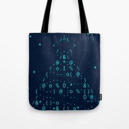 Christmas tree neon lights Tote Bag