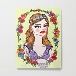 Be My Flower Girl Metal Print