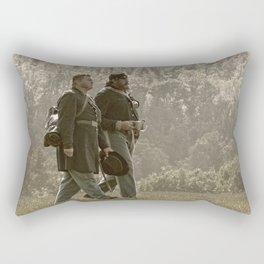 After a Long Battle Rectangular Pillow