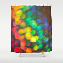 Rainbow Bokeh 1 Shower Curtain