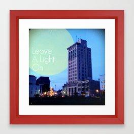 Leave A Light On Framed Art Print