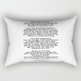 The Four Agreements #minimalist 3 Rectangular Pillow