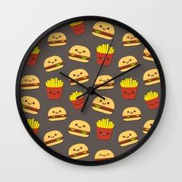 Fastfood pattern Wall Clock