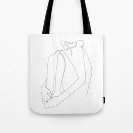 one line nude - sacrament Tote Bag