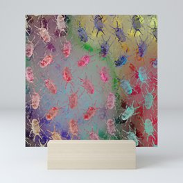 shiny stag beetles Mini Art Print