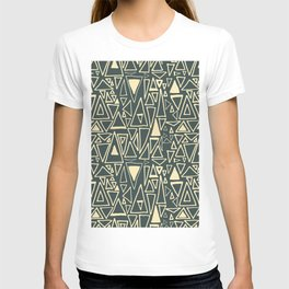 Chaotic Angles in Slate by Deirdre J Designs T-shirt