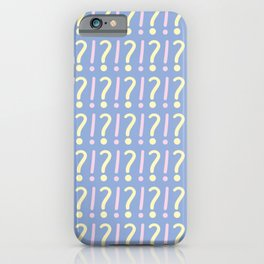 Question and Exclamation Marks Pattern iPhone Case