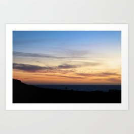 Flock in Half Moon Bay Art Print