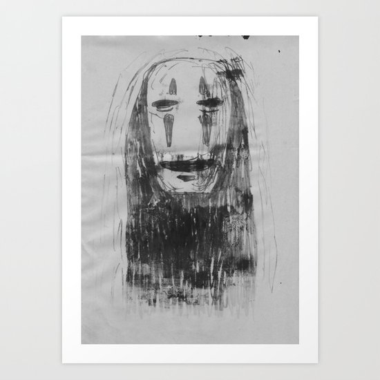 Spirited Away No Face  Art Print