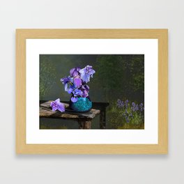 Morning Blues Framed Art Print