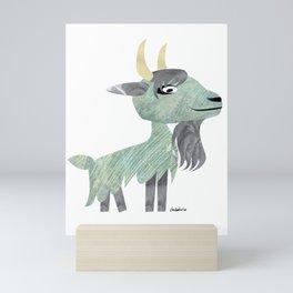 Long-Haired Goat Mini Art Print