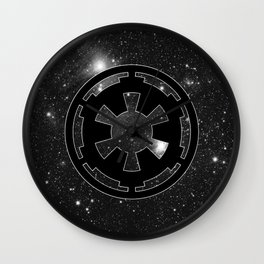 Imperial Cog on Stars with White Outline, Galactic Empire, Dark Side Wall Clock