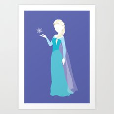 Elsa from Frozen Art Print