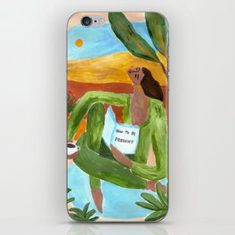 How to be present iPhone Skin