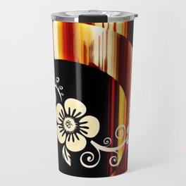 Floral Accent Travel Mug