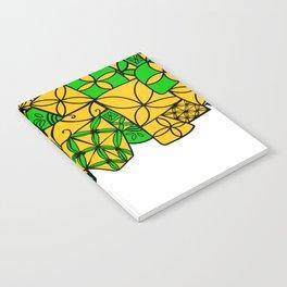 red tapa cross Notebook