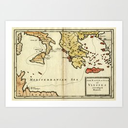The Navigation of Ulysses Art Print