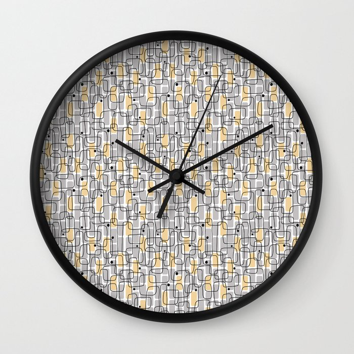 City with lights Wall Clock