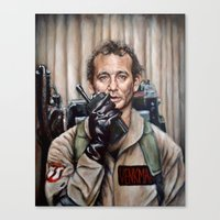 murray Canvas Prints featuring Bill Murray / Ghostbusters / Peter Venkman by Heather Buchanan