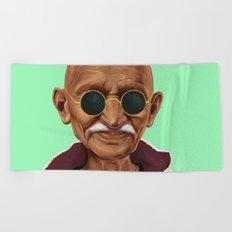 Hipstory -  mahatma gandhi Beach Towel