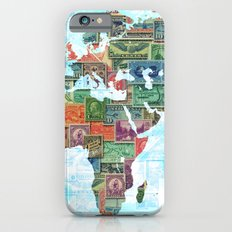 World Stamp Map Slim Case iPhone 6
