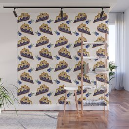Blueberry Pie Pattern Wall Mural