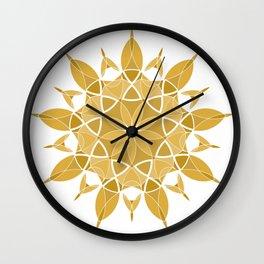 Sacred Geometry Golden Orb Wall Clock