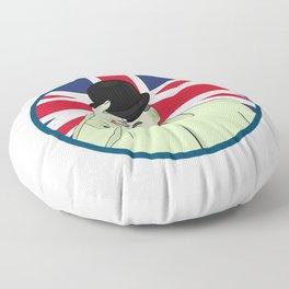 Prince Philip Duke of Edinburgh Floor Pillow