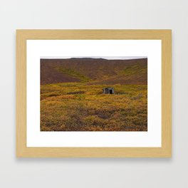 Shed in the Tundra Framed Art Print