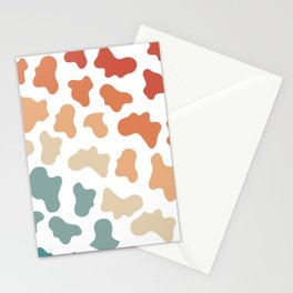 Retro Rainbow Cow Pattern Stationery Cards