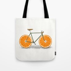 Zest (Orange Wheels) Tote Bag